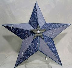 CTMH dimensional star - decorated with Dakota paper pack