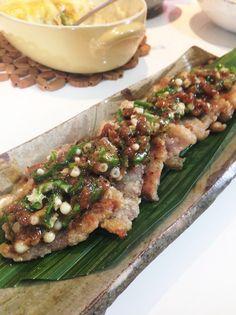 豚バラ〜オクラ梅肉ソース〜 by ぽぽげ [クックパッド] 簡単おいしいみんなのレシピが213万品