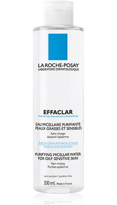 All about Effaclar Micellar Water, a product in the Effaclar range by La Roche-Posay recommended for Oily skin with imperfections. Free expert advice