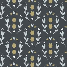 Modern floral illustration. Organic print design. #surfacedesign #floralillustration
