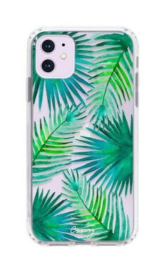 Palm Leaves (Beach Floral) - Casery - Drop Tested - Protective Slim Clear Case for Apple iPhone 11 Pro Max Cases Iphone 6, Girly Phone Cases, Pretty Iphone Cases, Iphone Case Covers, Iphone Charger, Iphone 11 Pro Case, Telefon Apple, Handy Case, Accessoires Iphone