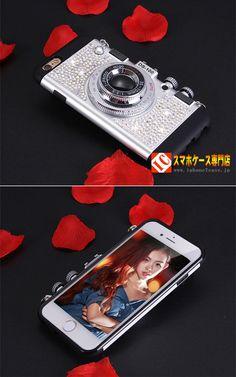 iPhone7 plusキラキラダイヤモンド付き6sストラップ付き携帯カバー女子向け
