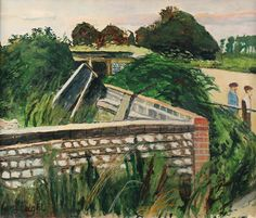 CAREL WEIGHT - FIGURES IN A SUBURBAN LANDSCAPE
