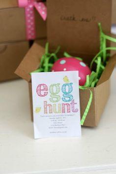 Easter egg hunt invites