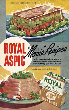 Aspic scares and fascinates me at the same time... I am daring myself to try one of Julia Child's Aspics