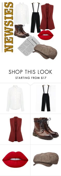 """Newsies"" by jadewonders ❤ liked on Polyvore featuring Sea, New York, Theory, Zadig & Voltaire, Lime Crime and Stetson"