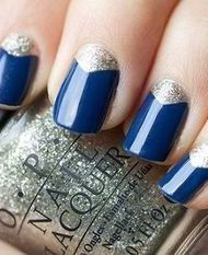 Simple, chic nail polish design for casual dinner parties