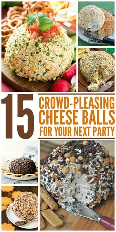 Who doesn't like a good cheese ball at a party? These recipes will be sure to please and won't last very long at all!
