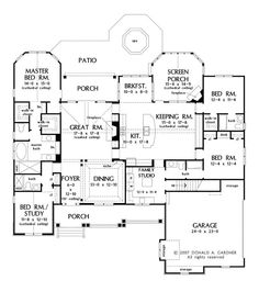 Floor Plans AFLFPW75781 - 1 Story Craftsman Home with 4 Bedrooms, 4 Bathrooms and 2,613 total Square Feet