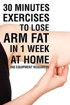 30 Minutes Exercises To Lose Arm Fat in 1 Week At Home (No Equipment Required). #fitness #armworkout