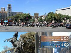 Plaça de Catalunya - Highlights of Barcelona – The Girls Who Wander The Girl Who, San Francisco Ferry, Wander, Highlights, Barcelona, Spain, Building, Girls, Travel