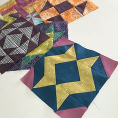 Block of the Month: Empire Star {a free pattern download} Star Quilt Blocks, Quilt Block Patterns, Pattern Blocks, Sewing Patterns, Sew Pattern, Free Pattern Download, Block Of The Month, Little Monkeys, Love Sewing