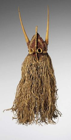 Africa | A Bukut Initiation/Circumcision ceremony masks of the Biola and Balanta people of Casamance, Senegal | 19th century | Baskety, horn, shell and seeds