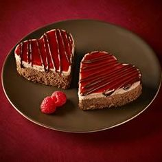 Ghirardelli Chocolate Raspberry Cheesecake Hearts Allrecipes.com