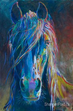 Horse - Shannon Ford Fine Art More Watercolor Horse, Watercolor Paintings, Horse Artwork, Painted Pony, Cow Art, Horse Drawings, Arte Pop, Equine Art, Animal Paintings