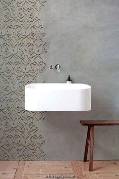 Unique Tadelakt Bathroom Design Ideas For Awesome Bathroom 14291 Modern Bathroom Design, Bathroom Interior Design, Bath Design, Tile Design, Window In Shower, Bathroom Pictures, Bathroom Ideas, Bathroom Trends, Bathroom Showers