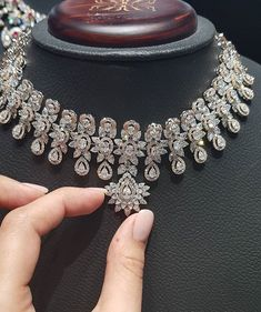 """Diamond Necklace beganijewels""""People rarely buy what they need, they buy what they want! Real Diamond Necklace, Diamond Studs, Diamond Pendant, Diamond Jewelry, Diamond Choker, Dimond Necklace, Black Diamond, Modern Jewelry, Fine Jewelry"""