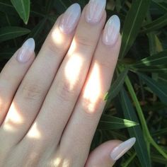 Natural acrylic almond-shaped nails done by Minh! | Yelp