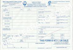 NBI Clearance Application Form