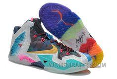 "d690aab8e387 Nike LeBron 11 ""What The LeBron"" Mens Basketball Shoes Top Deals NrpPCmK"