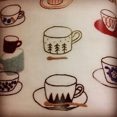 diy embroidery inspiration - tea
