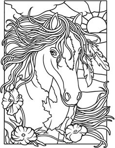 Horses Dover Coloring Pages Horse Printable Sheets