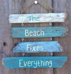 Cute Wooden Beach Sign ;)