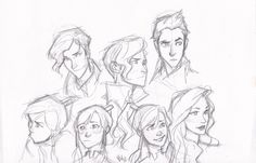 expressions of legend of korra by burdge