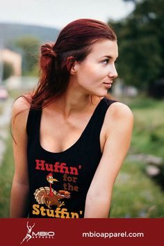 Let's face it, if you're out there huffin' and puffin' on Thanksgiving, its just to get to the stuffin' Might as well look good, in this Next Level Women's Jersey Tank. Running Tank Tops, Running Shirts, Running Apparel, Running Gear, Crossfit Tanks, Long Sleeve Running Shirt, Marathon Tips, Marathon Motivation, Winter Running