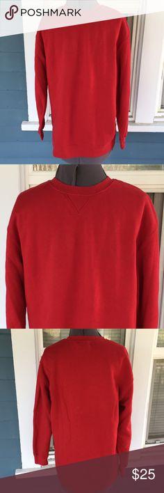 "Mens JOE BOXER Red Crew Sweatshirt Mens JOE BOXER Red Crew Sweatshirt.  Ultra soft inside.  Long sleeves.  Crew neck.   Red cotton/polyester blend Sweatshirt material.   Shoulder width 19"".   Length 26"" (shoulder to hem).   Excellent, new condition. Joe Boxer Shirts Sweatshirts & Hoodies"