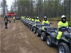 ATV All Terrain Vehicle Safaris at Vuokatti (Sotkamo, Finland).