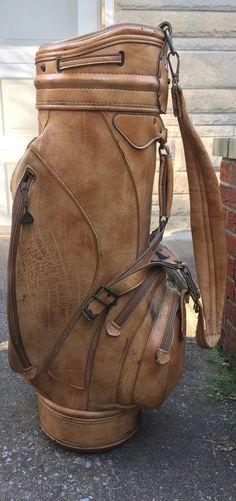 Vintage RAM USA Made Leather Golf Bag Brown Distressed Rugged Wear | eBay #golf #golfgear #vintage #vintagegolf #sports