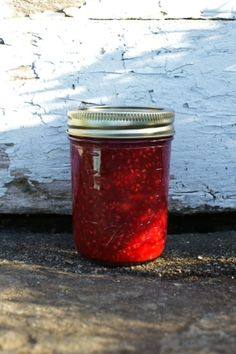 The Epicure's Raspberry jam  Be sure to process your jam in a boiling water bath for 10 minutes.   Jars must be covered with 1-2 inches of water during processing.