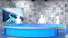 virtual tv studio 02 3d model max obj 8