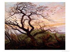 The Tree of Crows, 1822 Impressão giclée por Caspar David Friedrich na AllPosters.com.br