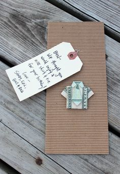 cute gift money idea