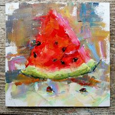 """Find out even more relevant information on """"buy abstract art from dolna. Visit our internet site. L'art Du Fruit, Fruit Art, Fruit Cakes, Watermelon Painting, Watermelon Art, Lemon Painting, Fruit Painting, Image Halloween, Mexican Paintings"""