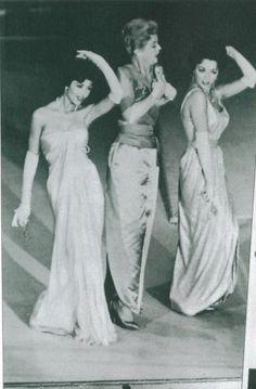 Joan Collins, Angela Lansbury & Dana Wynter performing at the Academy Awards