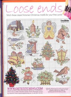 200 pages of small cross stitch charts