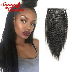 64.60$  Buy now - http://alis2p.worldwells.pw/go.php?t=32749136093 - Filipino Clip in Human Hair Extensions Kinky Straight Natural Hair Clip Extensions Rosa Queen Hair Yaki Clip in Hair Extensions