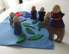 Lazarus and Palm Sunday Godly Play Set | Sprinkled with Joy blog