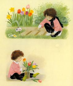 """""""Spring"""" - part of a series of illustrated board books about the seasons. From Floris Books"""