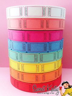 200 Carnival Tickets - 8 COLORS - Wedding - Birthday Party - Carnival - Retro  Vintage  Fun - Circus Party - Rainbow Raffle Tickets on Etsy, $6.00