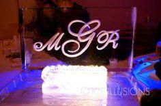 Monogram Ice Sculpture