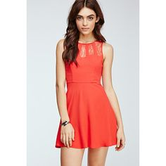 Forever 21 Caged Lace Fit & Flare Dress