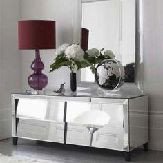 Glamorous furniture and design ideas - mirror furniture - mirrored furniture console.jpg