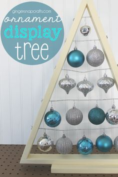 Ginger Snap Crafts: DIY Ornament Display Tree {tutorial}