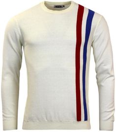 Attack Retro Mod Racing Jumper in Winter White from Madcap England