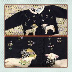 Little Girl's Spring Sweater size 12 months Perfect little sweater by Hartstrings Baby Hartstrings Baby Sweaters Cardigans