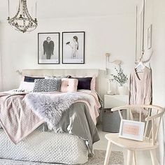 Get that gorgeous glam bedroom decor setup with these inspiring bedroom ideas 27 Gorgeous Bedrooms That'll Inspire You to Redecorate Dream Rooms, Dream Bedroom, Home Bedroom, Girls Bedroom, Modern Bedroom, Grey Bedrooms, Teenage Bedrooms, Master Bedrooms, Girl Room